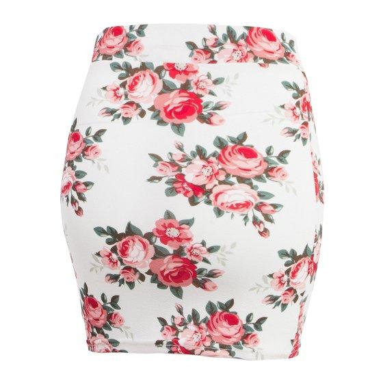 da689cc7b65 Doublju - Doublju Women s Stretch Knit Bodycon Mini Skirt IVORYROSE ...