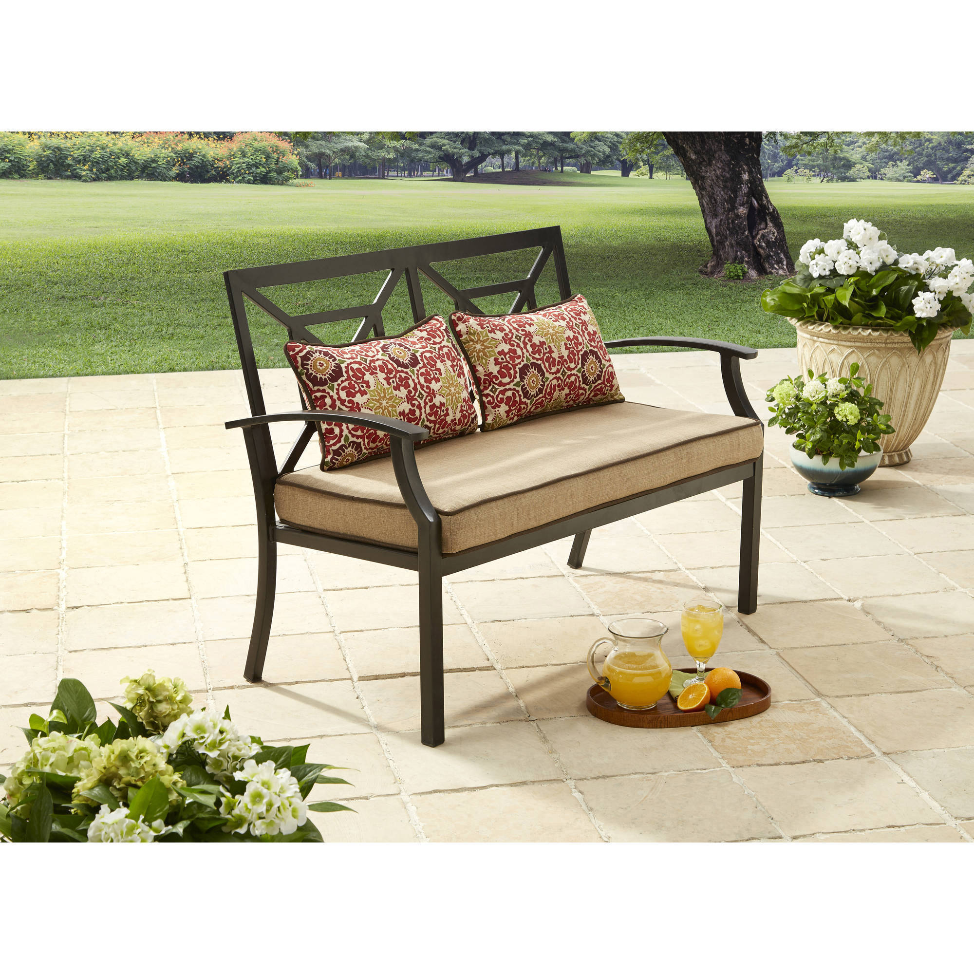 Better Homes And Gardens Carter Hills Outdoor Cushioned Loveseat, Seats 2