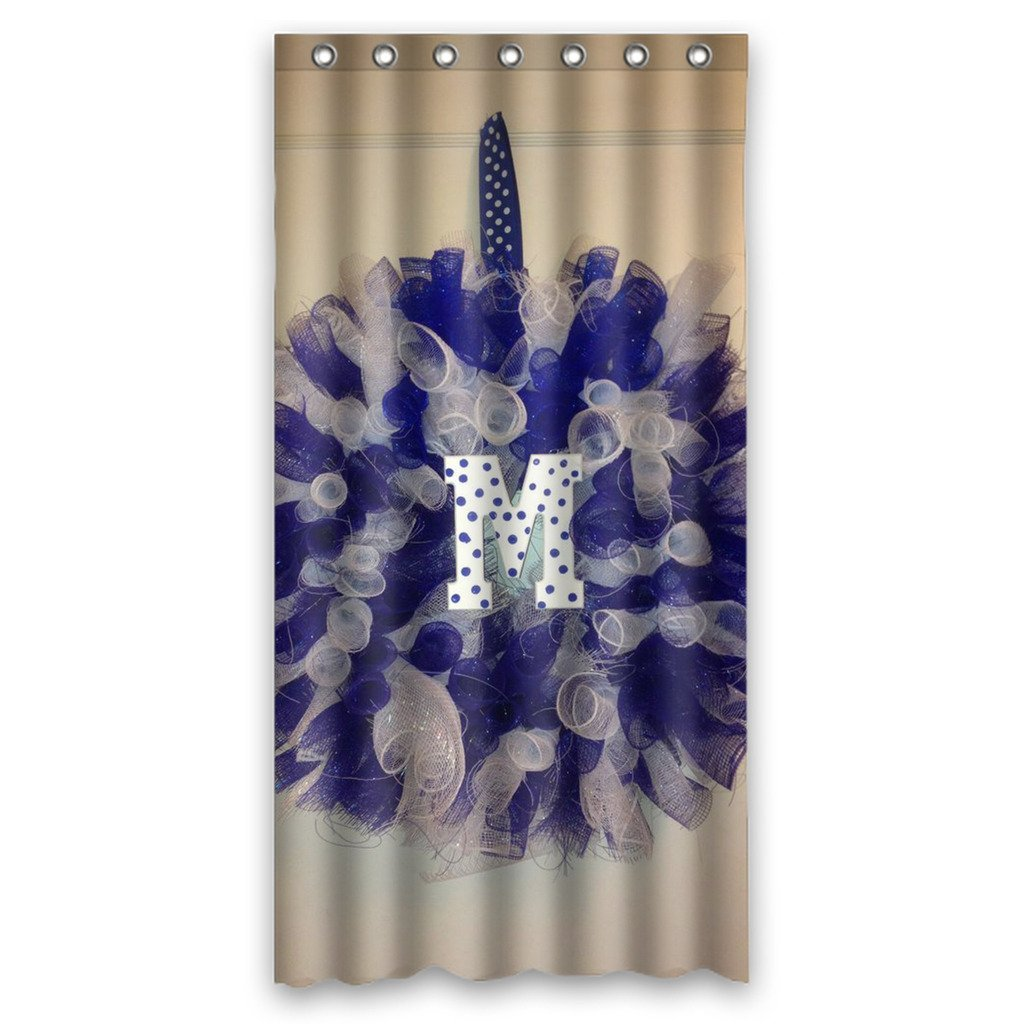 DEYOU Memphis Tigers Shower Curtain Polyester Fabric Bathroom Shower Curtain Size 36x72 inches