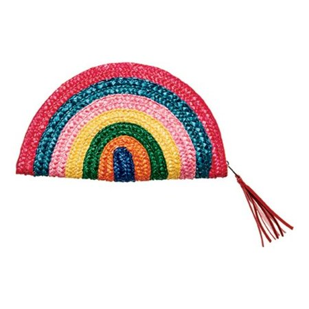 Women's San Diego Hat Company Wheat Straw Rainbow Clutch BSB1738 Multi OSFA - Rainbow Sock Monkey Hat