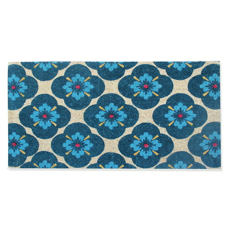 A1HC First Impression Floral 24-inch x 48-inch Coir Doormat (Floral Door Mats)