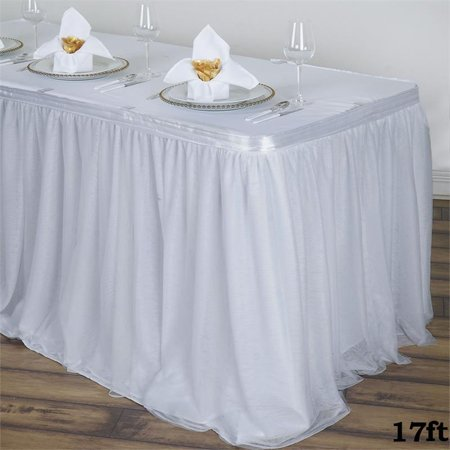 BalsaCircle 3 Layers Tulle Table Skirt - 3 sizes - Wedding Party Trade Show Booth Events Linens Decorations](Table Skirts)