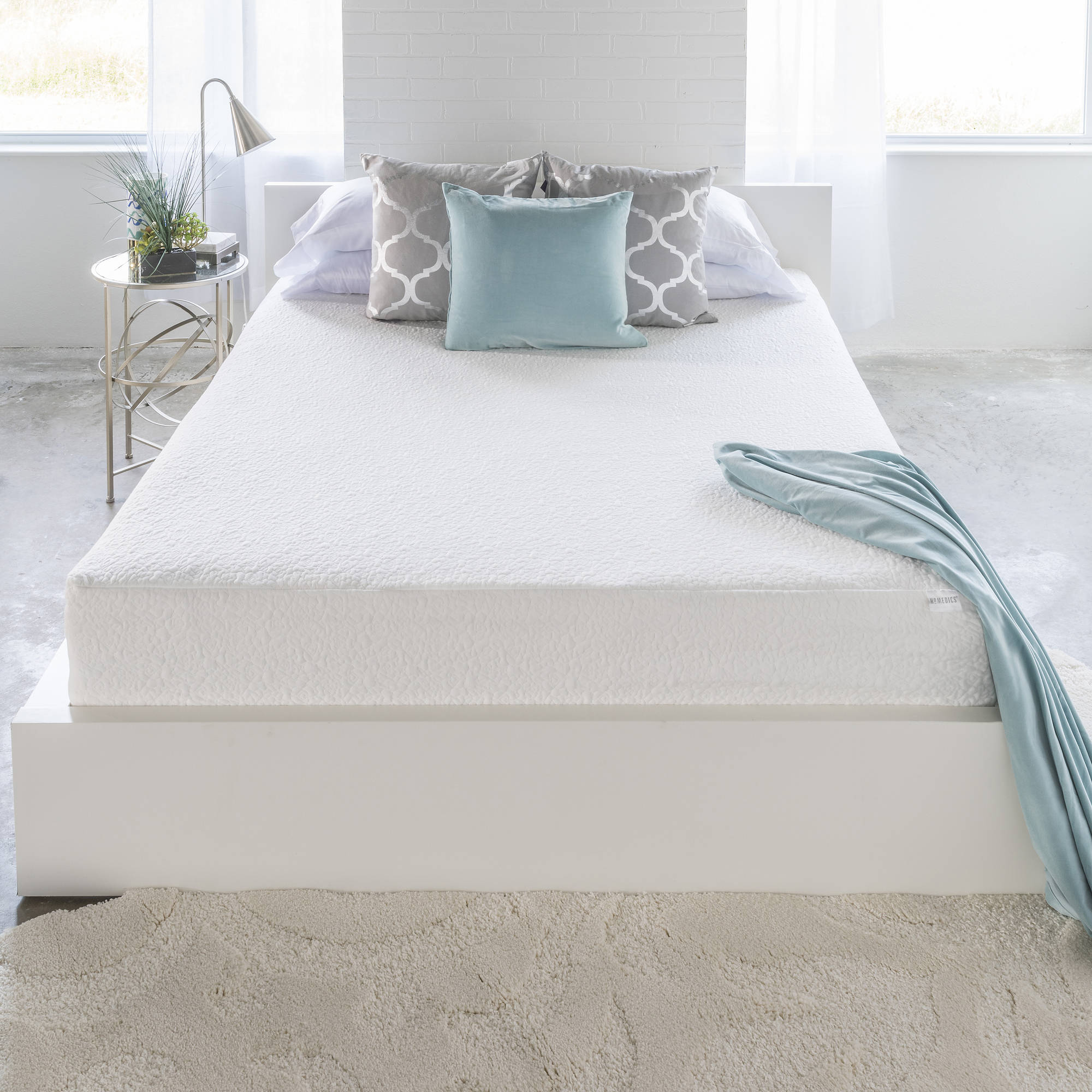 "HoMedics 12"" Memory Foam Mattress, Multiple Sizes"
