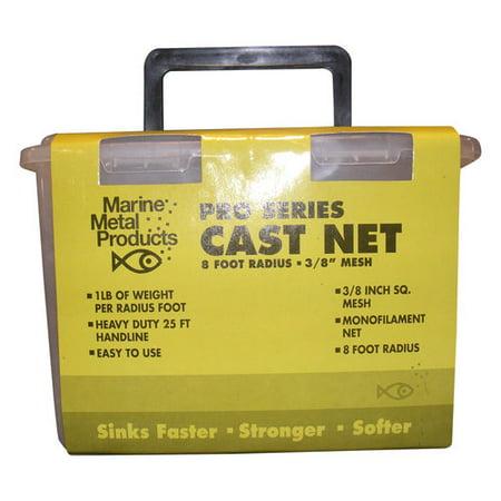 (Marine Metal Monofilament Cast Net, 3/8
