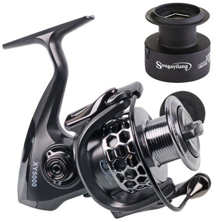Sougayilang Aluminum Spool Fishing Reel, 13+1BB Light Weight Ultra Smooth Spinning Fishing Reel, with Free Spare Graphite Spool Spinning Reels - Walmart.com