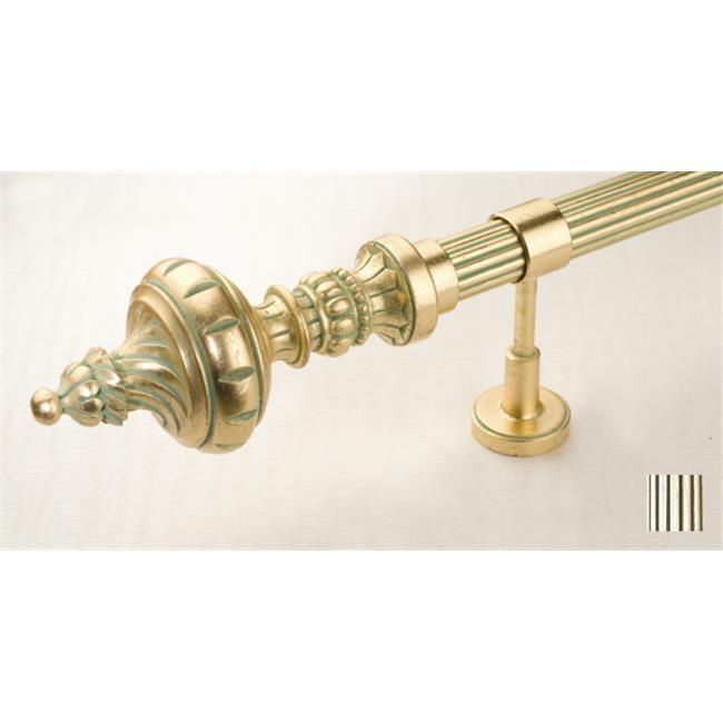 WinarT USA 8. 1098. 45. 07. 200 Palas 1098 Curtain Rod Set - 1. 75 inch - Silver Leaf - 78 inch