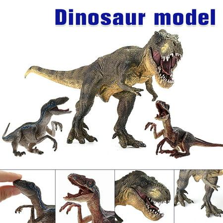 Jurassic Vivid  Tyrannosaurus Rex Dinosaur Plastic Toy Figure Model Decoration Jewelry Kid Toy Christmas Home Decoration