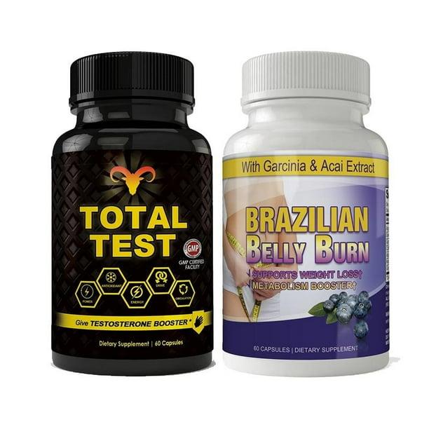 Total Test Testosterone Booster and Brazilian Belly Burn Combo Pack - Walmart.com - Walmart.com