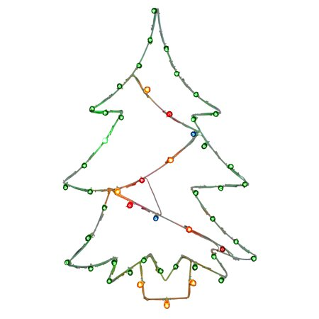 "Vickerman 48"" x 32"" Christmas Tree Wire Motif, C7 Lights"