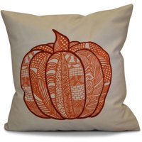 "Simply Daisy 16"" x 16"" Pumpkin Patch Geometric Print Pillow"