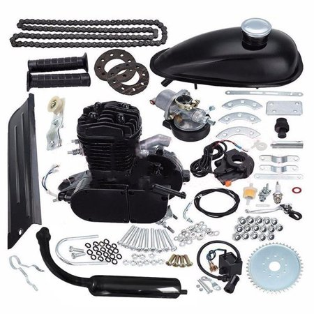 50cc Petrol Gas Engine Kit Bicycle Motorized Stroke Cycle Motor Engine Kit Set Fit for Most Type 24