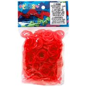Rainbow Loom *JELLY* Red Rubber Bands Refill Pack RL8 [600 ct]