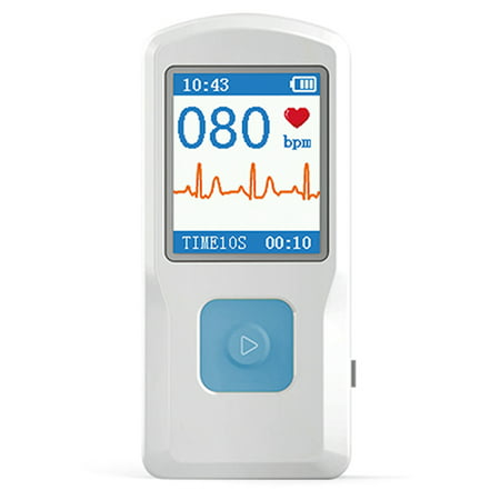 CONTEC PM10 Portable ECG EKG Machine Color Screen ECG Monitor Handheld Heart Machine