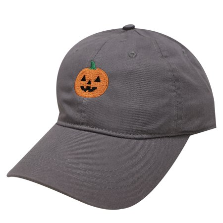 City Hunter C104 Halloween Pumpkin Cotton Baseball Dad Caps 16Colors (Charcoal)
