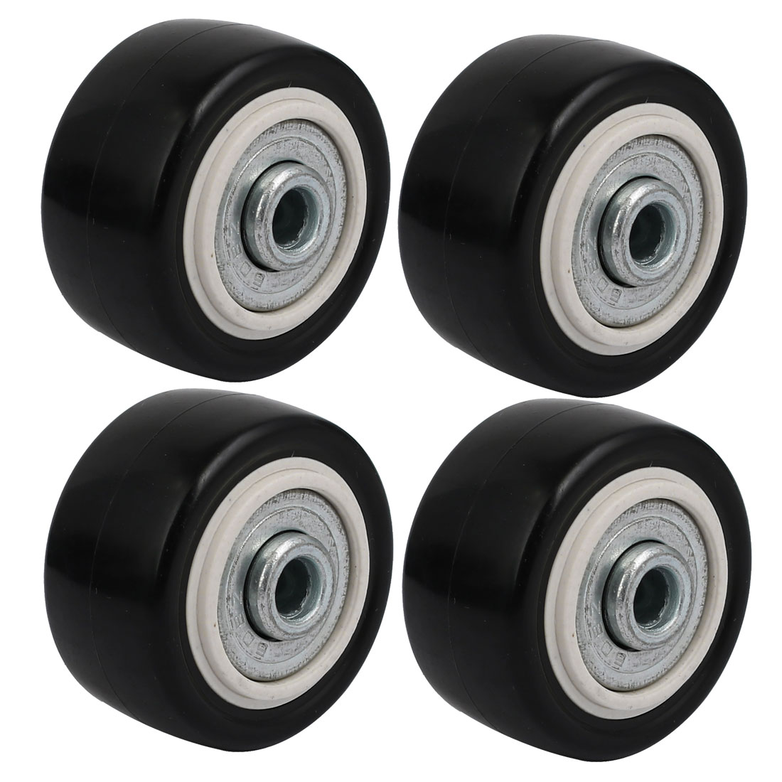 Unique Bargains 1.5-inch Diameter Wheel Skateboard Trolley Bearing Caster Pulley 4pcs