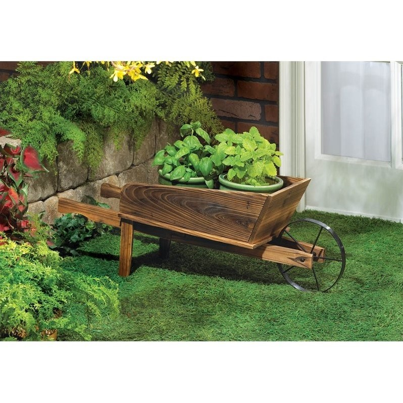 Zingz and Thingz Country Flower Cart Planter