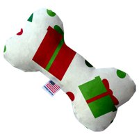 All The Presents! 6 Inch Canvas Bone Dog Toy