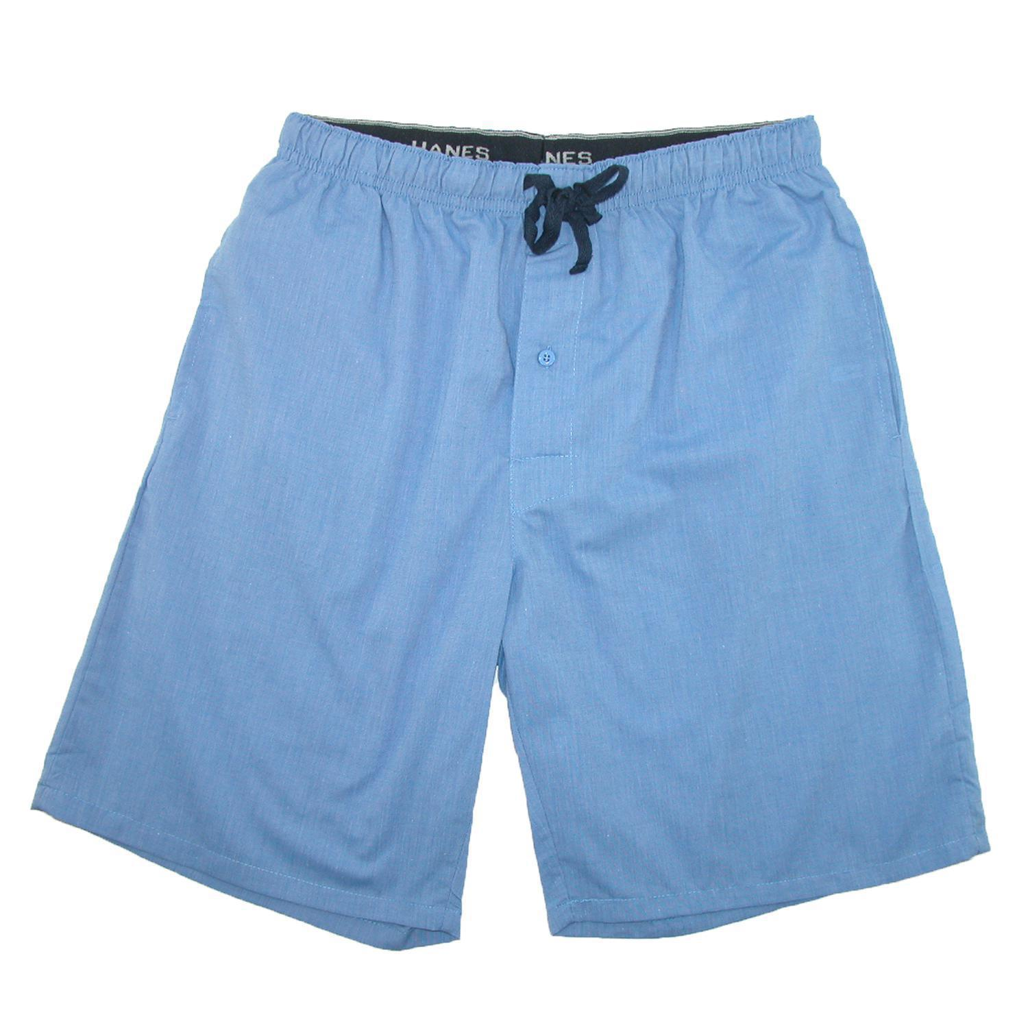 Hanes Men's Cotton Madras Drawstring Sleep Pajama Shorts - Walmart.com