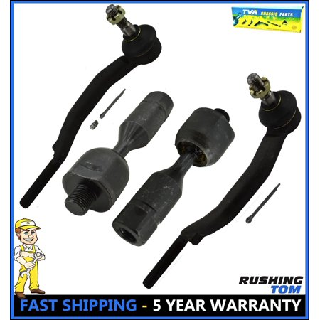 4 Inner & Outer Tie Rod Ends Linkages Set w/ 16mm Chevy Trailblazer GMC - Trailblazer Tie Rod End
