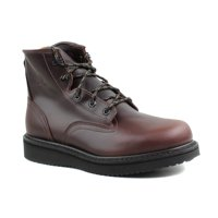 Georgia Boots Mens GB00361 Wedge Lace Up Dark Brown Leather Work & Safety Boots