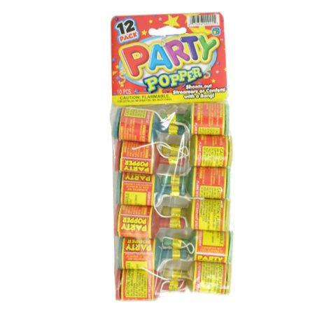 PARTY POPPERS 12PK