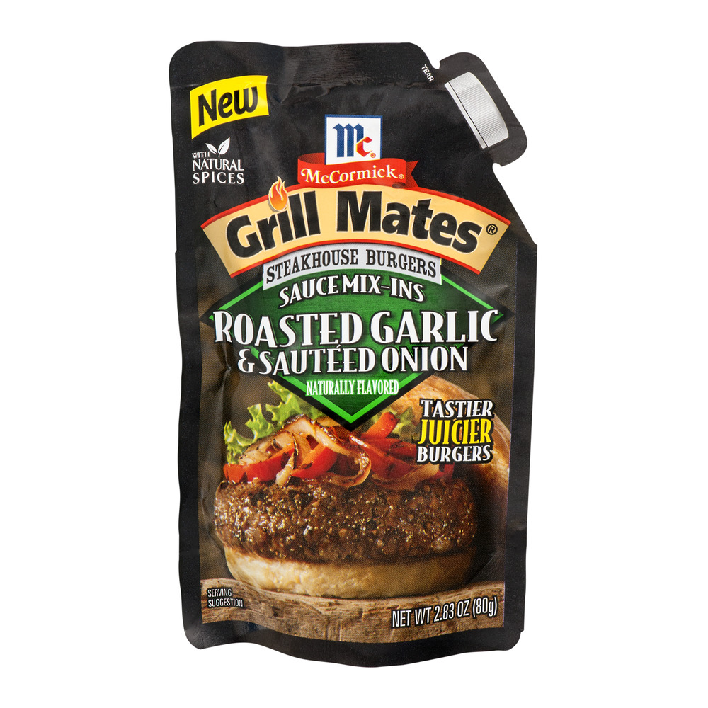 McCormick Grill Mates Steakhouse Burgers Sauce Mix-Ins Roasted Garlic & Sautéed Onion,... by McCormick & Co., Inc.