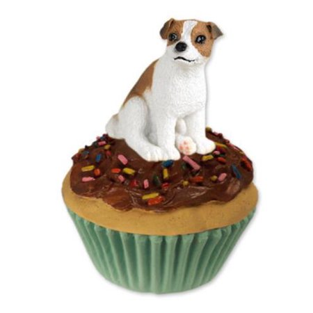 Jack Russell Terrier Brown & White w/Smooth Coat Pupcake Trinket Box ()