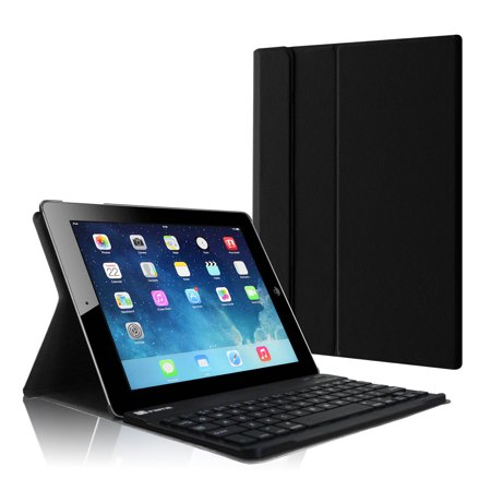 Apple iPad 4, iPad 3 & iPad 2 Keyboard Case - Fintie SlimShell Stand Cover with Detachable Bluetooth Keyboard,