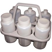 dynalab corp 408175 economy bottle carrier 6 place250 - 1000ml