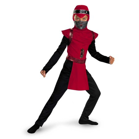Red Viper Ninja Warrior Classic Boys Halloween Costume - Halloween Dips