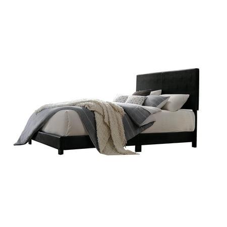 Acme Lien Twin Bed, Black PU -
