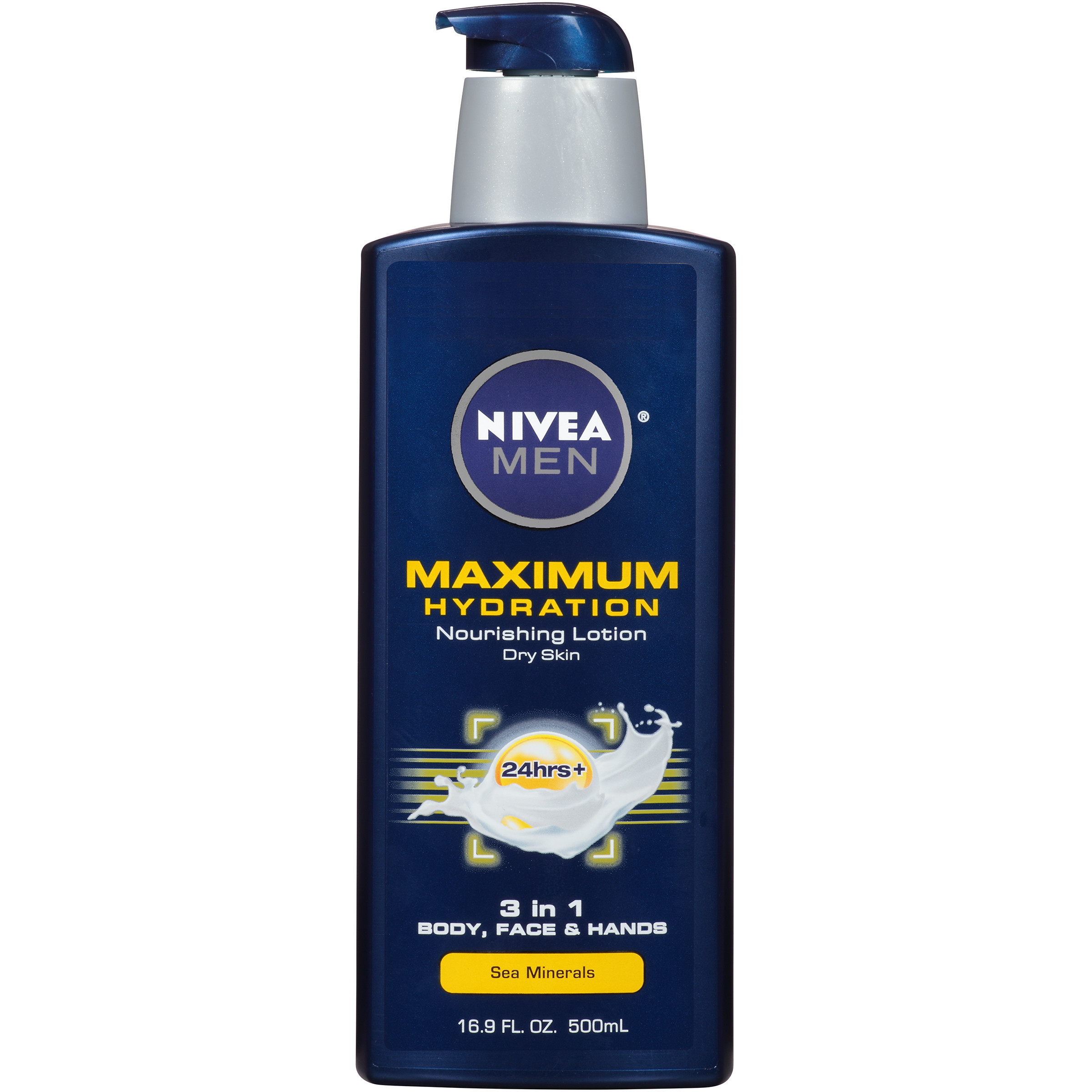 NIVEA Men Maximum Hydration 3 in 1 Nourishing Lotion 16.9 fl. oz. - Walmart.com
