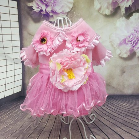 Style Dog Cat - Dog Dress Peony Style Small Pet Cat Skirt Clothes Puppy Winter Apparels Costume