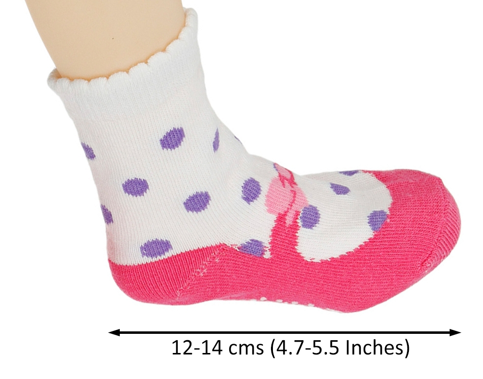 Assorted Non Skid Ankle Cotton Socks Baby Walker Girls Toddler Anti Slip Crew Socks with Grip for 12-36 Month Baby
