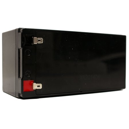 B & B Battery BP3.6-12 Battery Replacement - UB1234 Universal Sealed Lead Acid Battery (12V, 3.4Ah, 3400mAh, F1 Terminal, AGM, SLA) - Includes TWO F1 to F2 Terminal Adapters - image 3 de 4
