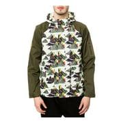 Staple Mens The Militech Nylon Windbreaker Jacket, green, Medium