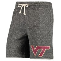 Virginia Tech Hokies Concepts Sport Pinpoint French Terry Shorts - Charcoal