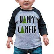 Unisex Happy Camper Outdoors Raglan Tee - XL (18-20) T-shirt