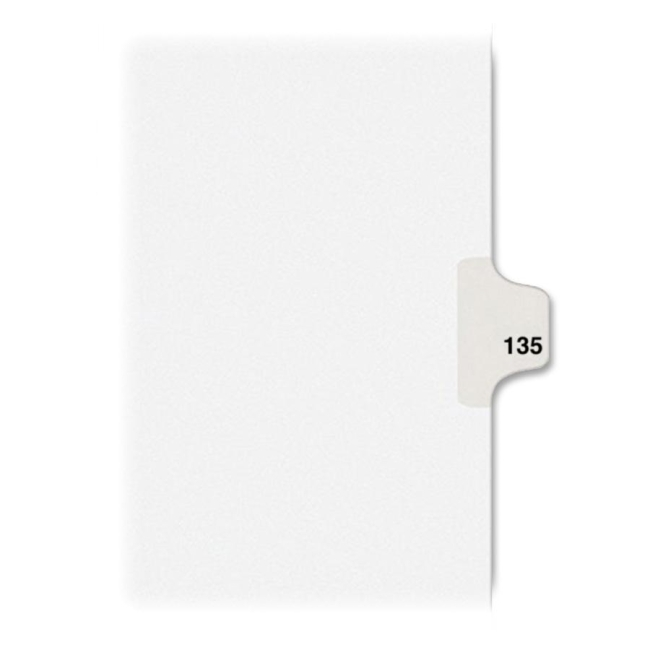 "Avery Dividers, ""135"", Side Tab, 8-1/2""x11"", 25/PK, White - AVE82351"