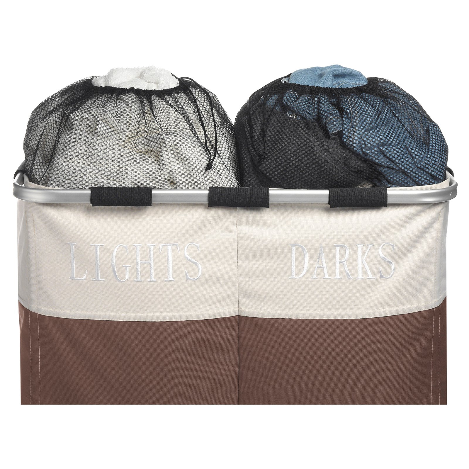 Whitmor Easycare Double Hamper Java