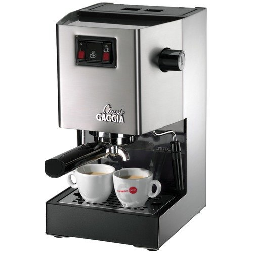 Gaggia Classic Semi-Automatic Espresso Machine in Brushed Stainless Steel