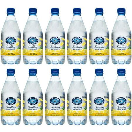 Crystal Geyser Sparkling Spring Water, Lemon, 18oz. PET Bottles , No Artificial Ingredients, Sweeteners, Calorie Free (Pack of 12) Bottled Water 24 Bottles