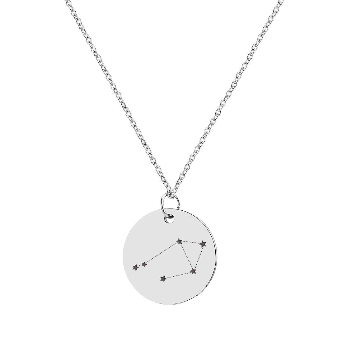 Silver Libra Constellation Necklace Night Sky Libra Gifts Libra Necklace Sterling Silver Libra Zodiac Necklace Astrology Necklace
