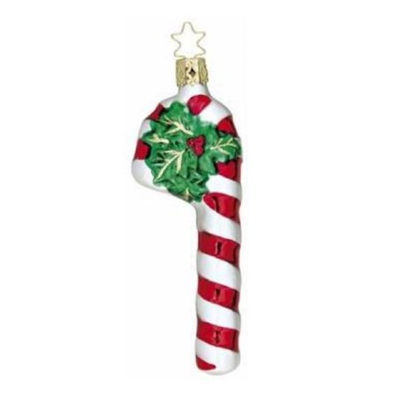 inge glas sugar and striped candy cane german glass christmas ornament free box