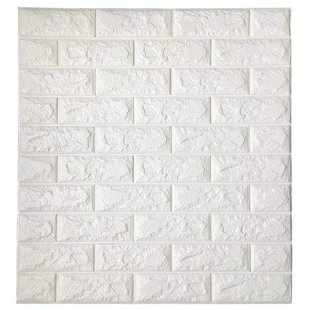 HappyD PE Wallpaper/Peel and Stick Wall Panels/PE Foam Self Adhesive Brick/Pattern Soft Pack TV Sofa Background Living Room Decoration 23.6