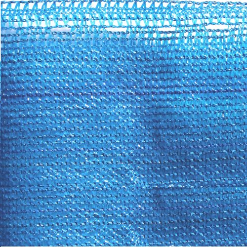 ALEKO Privacy Mesh Fabric Screen Fence with Grommets 4 x 25 Feet Blue by ALEKO