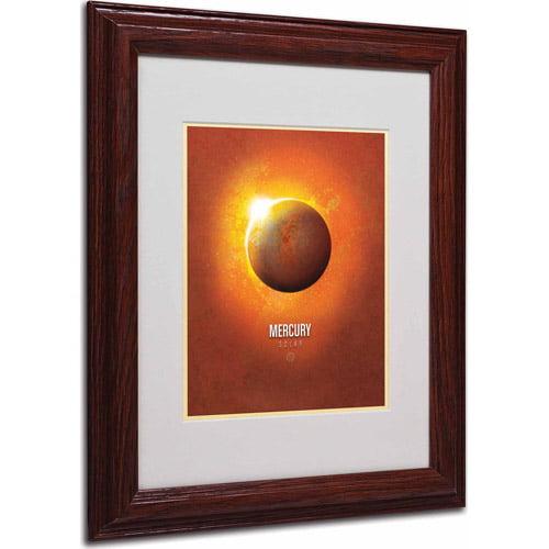 "Trademark Fine Art ""Mercury"" Matted Framed Art by Christian Jackson, Wood Frame"