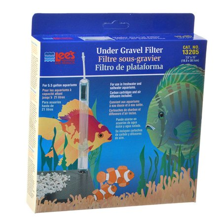 Lees Undergravel Filter - Lees Original Undergravel Filter 15 Long x 7.5 Wide (5.5 Gallons) - Pack of 2