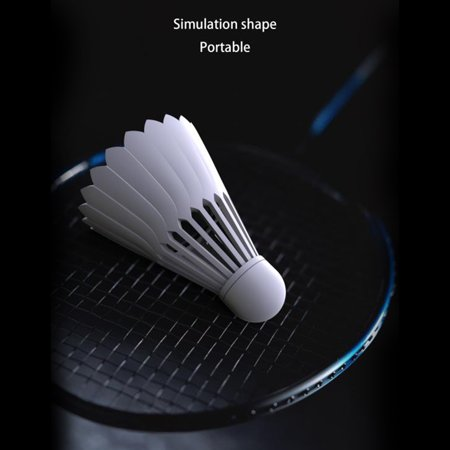 Badminton Shape Mini Portable Sports Stereo Bass BT Speaker Sound Box White - image 5 of 7