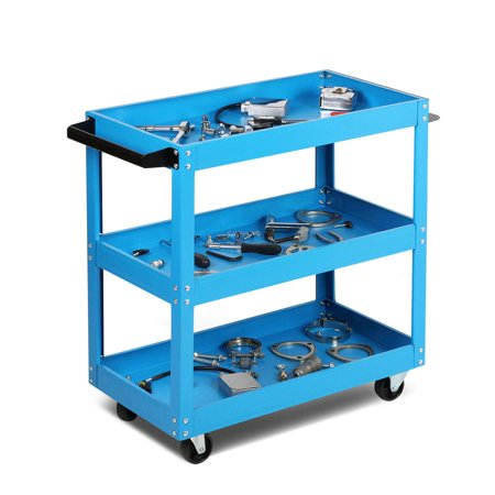 Magshion 3-Tier Service Tool Cart Tool Organizers Garage Storage Mechanic Utility